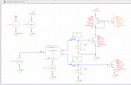 S-Edit schematic screenshot