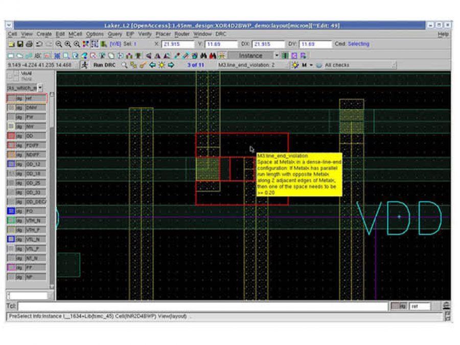 In tool DRC feedback