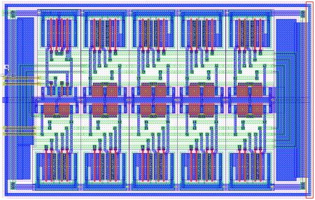 Chip layout in L-Edit
