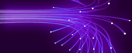 purple/blue optical fibres