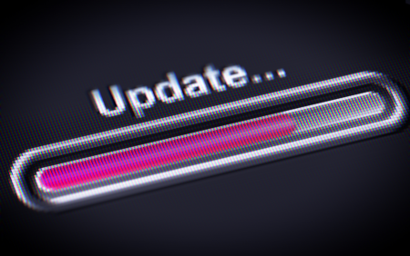 On-screen UPDATE process scale