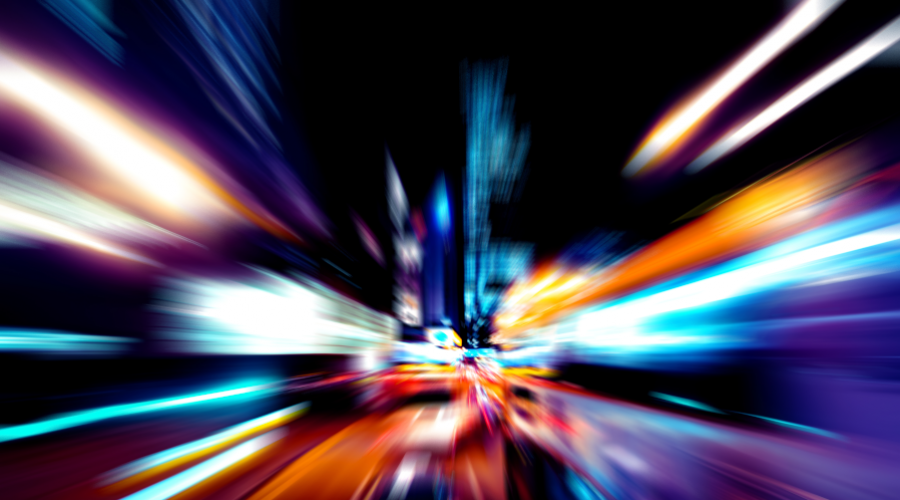 abstract image illustrating speed