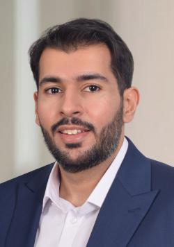 Portrait photograph of Khalid Teama