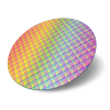 Silicon wafer with IC dies